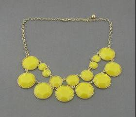 Sale 2013 yellow party wedding necklace/gift /statement necklace/Crystal Pearl Necklace/bubble necklace/bib necklace