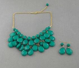 Sale 2013 olive green Beadwork bib necklace,Teardrop-shaped necklace, bubble necklace,bib Bubble Necklace,drape bib necklace